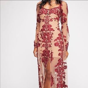 For Love and Lemons Temecula Lace Maxi Dress XS